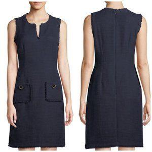 Karl Lagerfeld Navy Tweed Dress